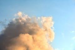 Himmelfarborange und -BLAU Stockbilder