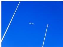 Himmelflygplan Royaltyfri Foto