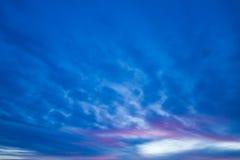 Himmelhintergrund Stockfoto