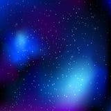 Himmelhintergrund mit Sternen stock abbildung