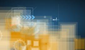 Himmelhohes Technologiekonzept Virtuelle Energie des Geschäfts lizenzfreie abbildung
