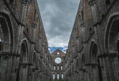 Himmelkirchenabtei-San-galgano Toskana Italien Toskana Stockbilder