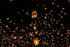 Himmellaterne festivalyee Peng-lannain Chaing MAI, Thailand Lizenzfreies Stockfoto