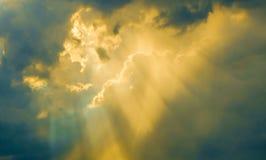 Himmellicht im Abendhintergrund Lizenzfreies Stockfoto