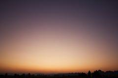 Himmellutning Arkivfoton