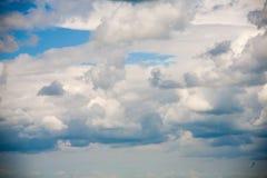 Himmelmoln på en bakgrund av ljusa blått gör klar himmel Royaltyfria Bilder