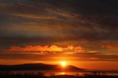 Himmelmorgen Nikolaevsk-auf-Amur stockbild