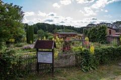 Himmelpfort-Klostergarten-von oben Lizenzfreie Stockbilder