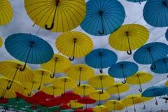 Himmelregenschirme stockbilder