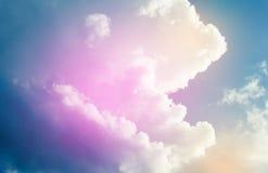 himmelrosa färger och blått Fotografering för Bildbyråer