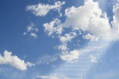 Himmels port skytrappa till framgång till långt Fotografering för Bildbyråer