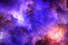 Himmels-und Höllen-Kampf in der Himmel-Malerei Stockfotos
