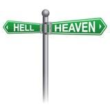 Himmels-und Höllen-Zeichen-Konzept vektor abbildung