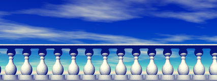 Himmelsbalustrade Stockfoto