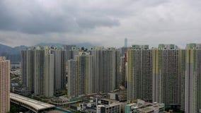 Himmelscrappers i Hong Kong lager videofilmer