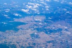 Himmelsikt av den indiska staden Royaltyfri Fotografi