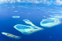 Himmelsikt av Rafa Atoll Arkivbilder