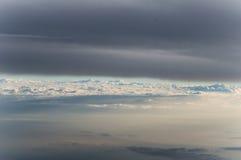 Himmelsikt från airplan Royaltyfri Foto