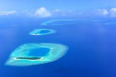 Himmelsikten av bräker atollön, Maldiverna Royaltyfri Fotografi