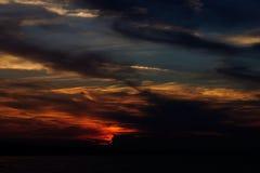 Himmelsolnedgång Royaltyfri Foto