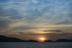 Himmelsolnedgång Arkivfoton