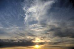 Himmelsolnedgång arkivbilder