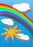 Himmelsonne und -wolken Stockbilder