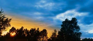 Himmelsonnenuntergang Lizenzfreie Stockbilder