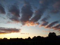 Himmelsonnenuntergang stockfoto