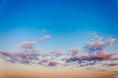 Himmeltextur med moln Royaltyfri Bild