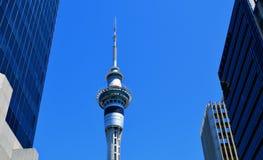 Himmeltorn i Auckland Nya Zeeland Arkivbilder