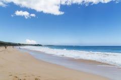 Himmelvatten och strand Royaltyfri Foto