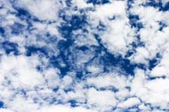 Himmelwolken Stockfoto