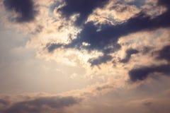 Himmelwolken-Grauton Lizenzfreie Stockbilder