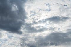 Himmelwolken, Himmel mit Wolken und Sonne Lizenzfreie Stockfotografie
