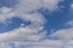 Himmelwolken, Himmel mit Wolken und Sonne Stockfoto