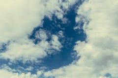 Himmelwolken, Himmel mit Wolken und Sonne Lizenzfreies Stockfoto