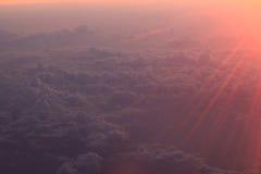 Himmelwolken im Sonnenaufgang Lizenzfreie Stockbilder