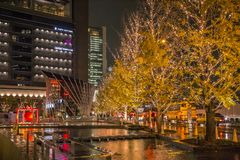 Himmili of light illumination event at Hankyu Umeda. Hankyu Umeda, Osaka, Kansai, Japan - November 2017 : Himmili of light illumination event at Hankyu Umeda royalty free stock photos