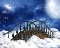 Himmlische Brücke stockbild