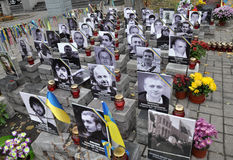 Himmlische Hunderte Erinnerungsder helden der Leute-s in Kyiv_3 Lizenzfreie Stockfotos