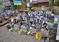 Himmlische Hunderte Erinnerungsder helden der Leute-s in Kyiv_7 Lizenzfreie Stockfotos