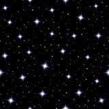 Himmlischer nahtloser Hintergrund mit funkelnden Sternen Stockbild