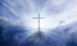 Himmlisches Kreuz Stockbilder