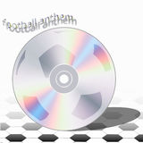 Himno CD del fútbol stock de ilustración
