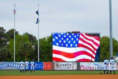 Himno nacional en Charleston, SC Imagen de archivo