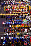 Himno nacional en Pit Row Fotos de archivo