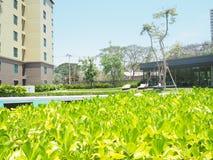 hin华・泰国 2017年3月 cha上午省的公寓 免版税库存图片