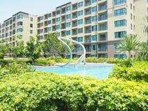 hin华・泰国 2017年3月 cha上午省的公寓 免版税库存照片