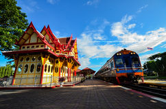 hin Hua stacja kolejowa Obrazy Royalty Free